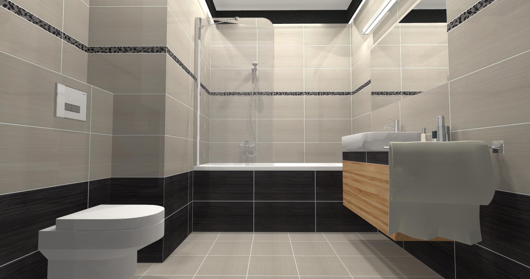 Wizualizacja 3d łazienki Cer Projekt Płytki Ceramiczne